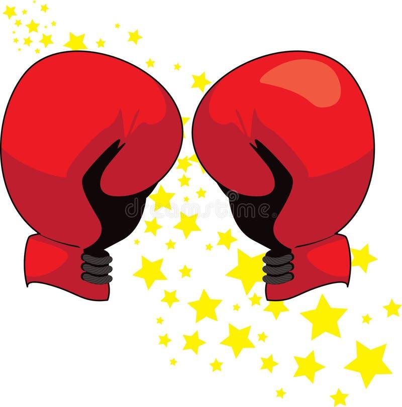 boxninghandskeillustration vektor illustrationer