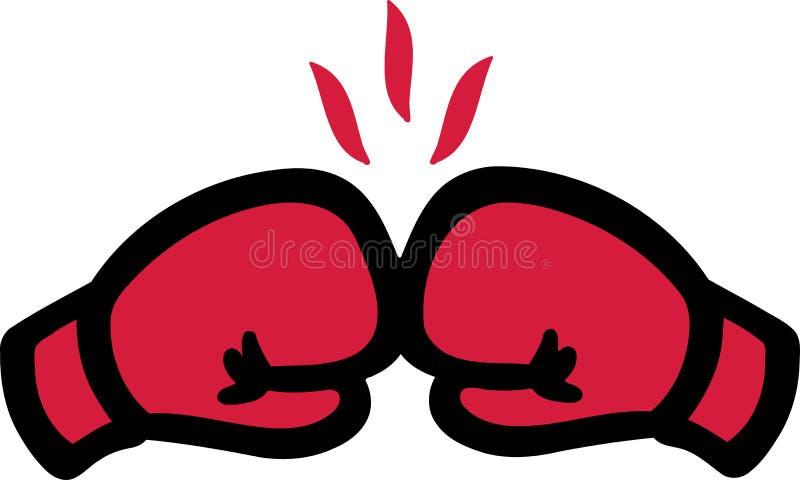 Boxningknockout royaltyfri illustrationer