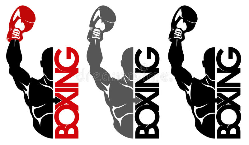 Boxninglogo royaltyfri illustrationer