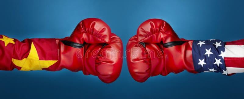boxningporslin USA vs arkivfoton