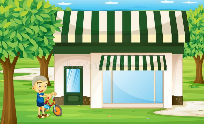 Download A boy stock vector. Illustration of little, grass, green - 26942003