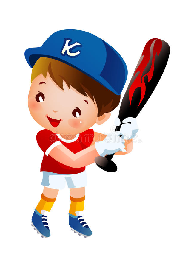 Download The boy stock vector. Illustration of baseball, determination - 27009134
