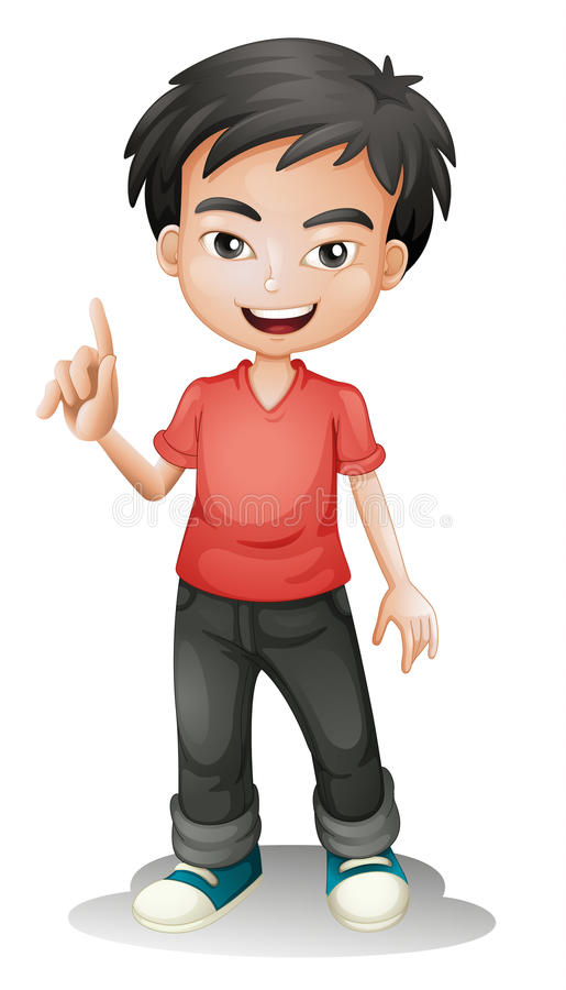 A boy vector illustration