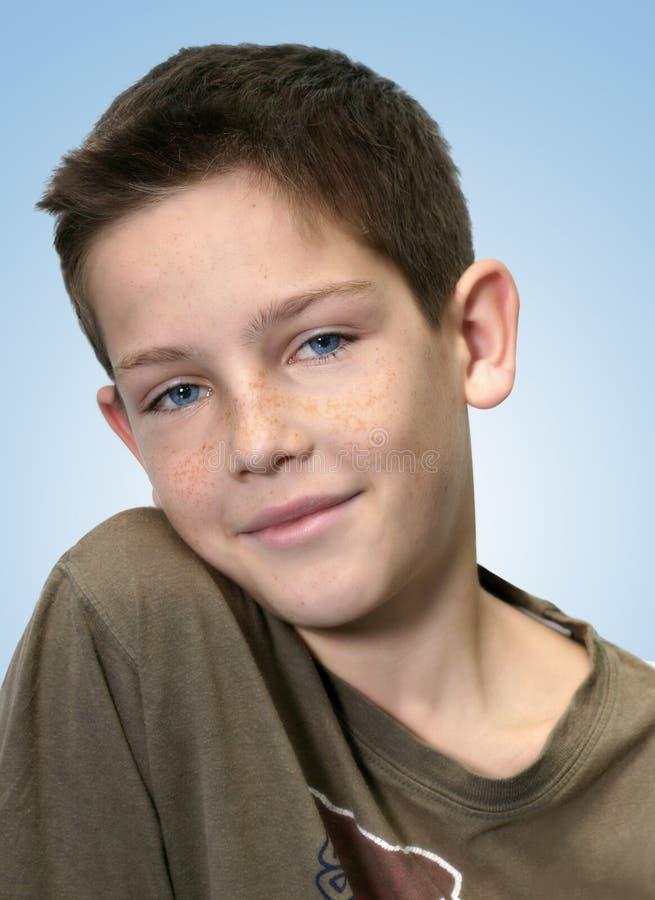Download Boy stock photo. Image of portrait, teenager, smile, blue - 41866