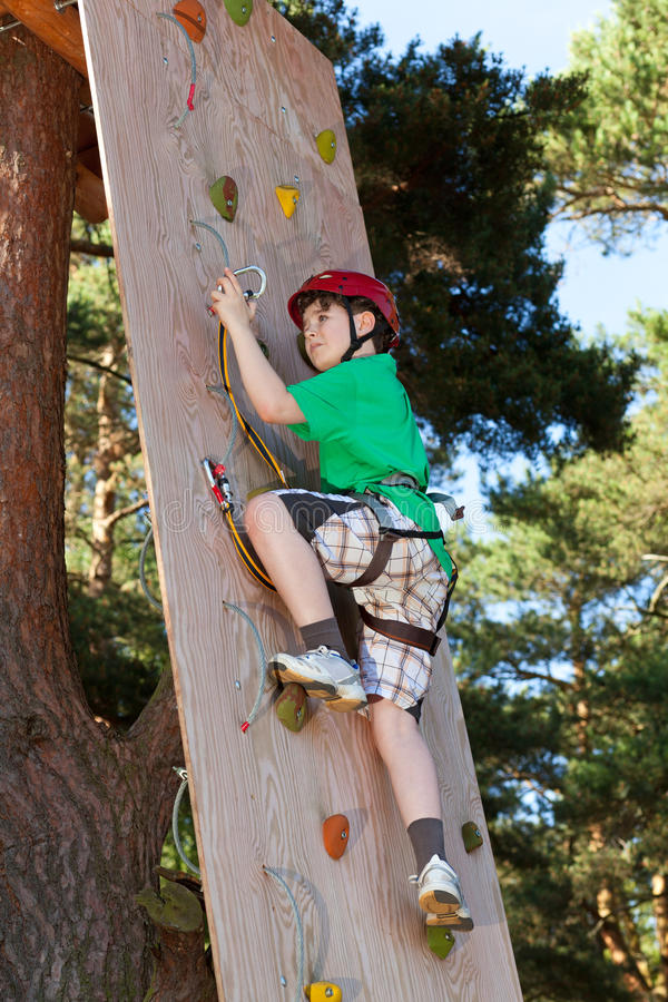 Download Boy in adventure park stock photo. Image of challenge - 24306398