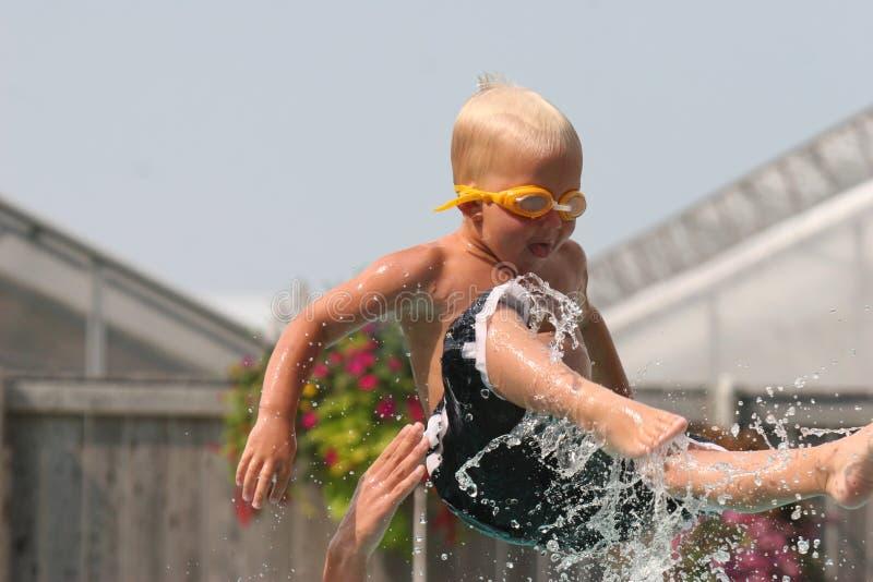 Boy in air royalty free stock photos