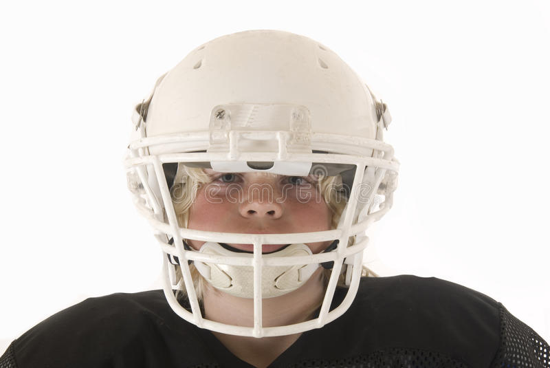 Download Boy In American Football Helmet Stock Image - Image of playing, blue: 33092077