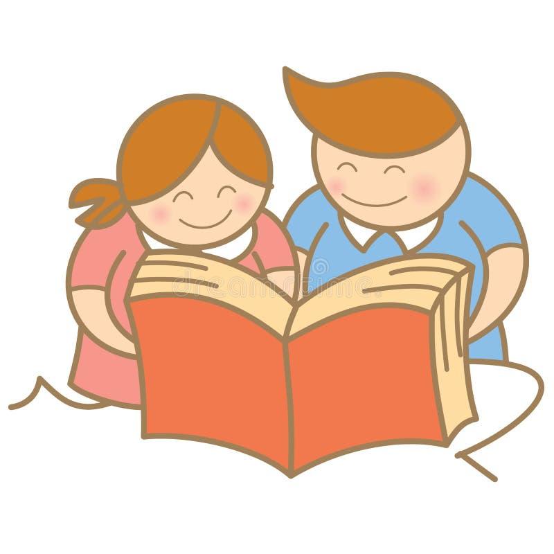 Free Boy And Girl Enjoy Reading Stock Photo - 27994060