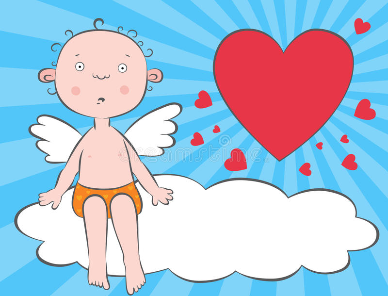 Download Boy Angel On A Cloud Stock Photography - Image: 23027602