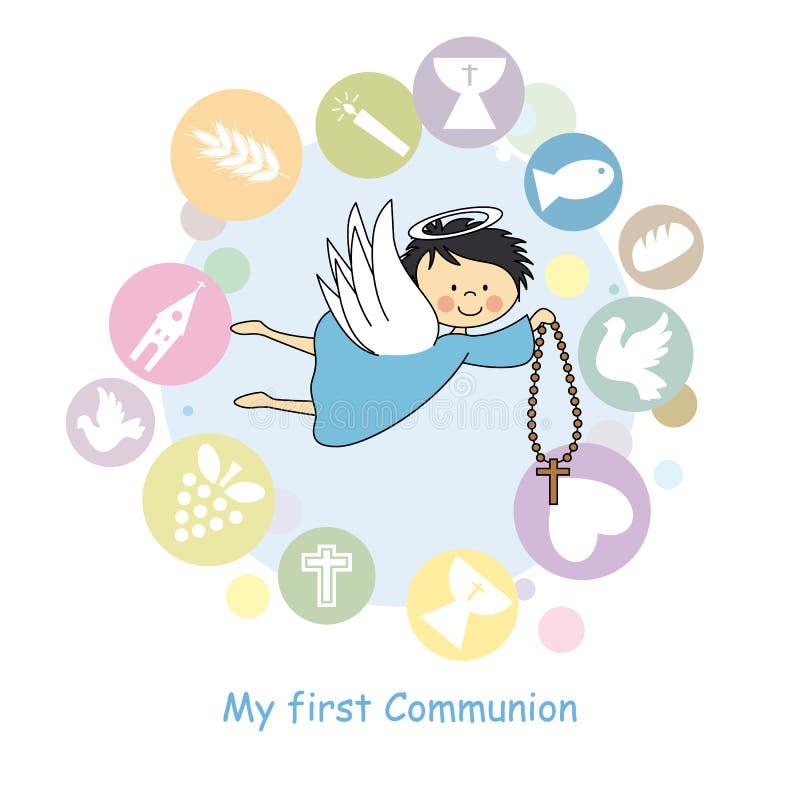 Boy Angel royalty free illustration