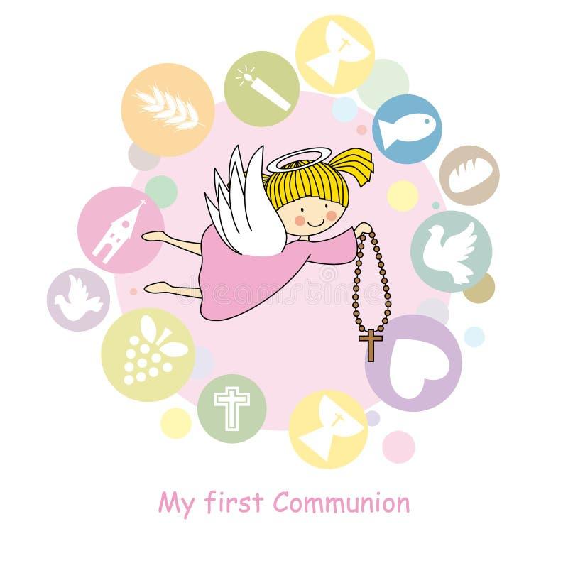 Boy Angel stock illustration