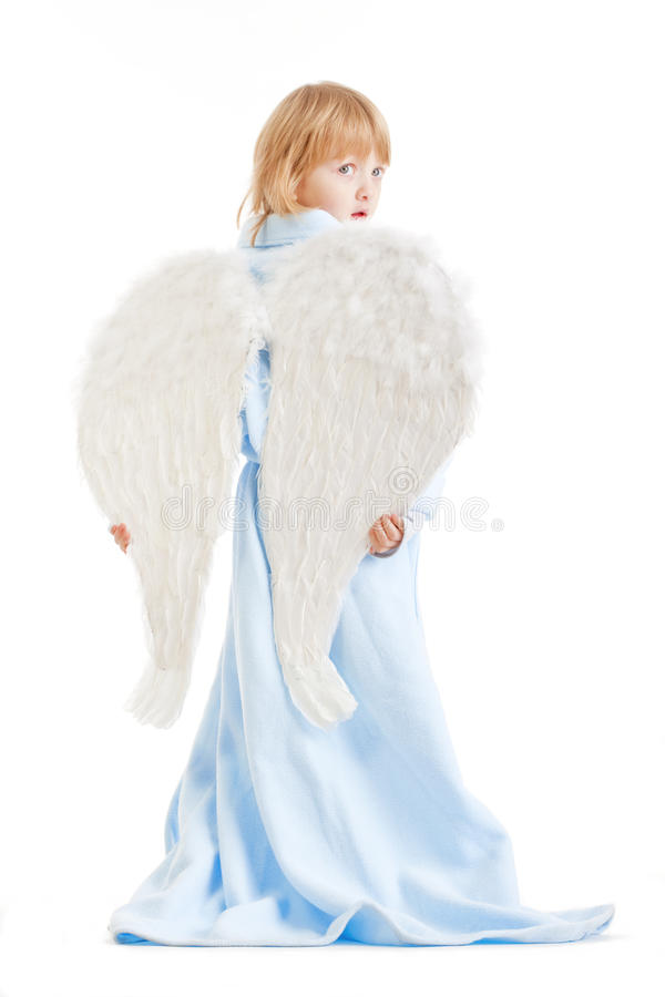 Boy With Angel Wings Royalty Free Stock Images