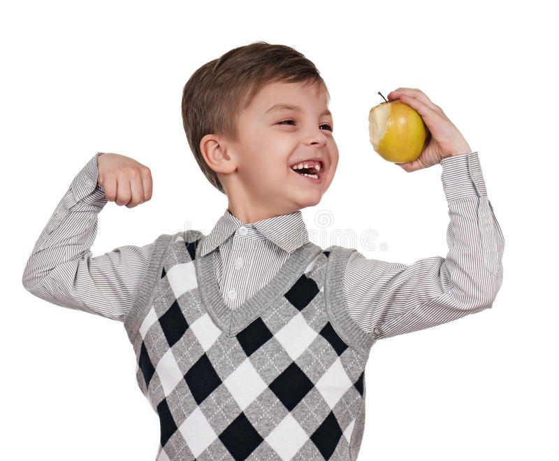 Download Boy with apple stock image. Image of happy, child, lifestyle - 19084727