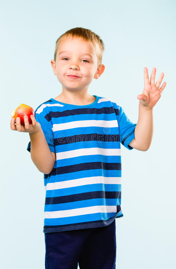 Download Boy and apple stock image. Image of boys, caucasian, light - 33950437