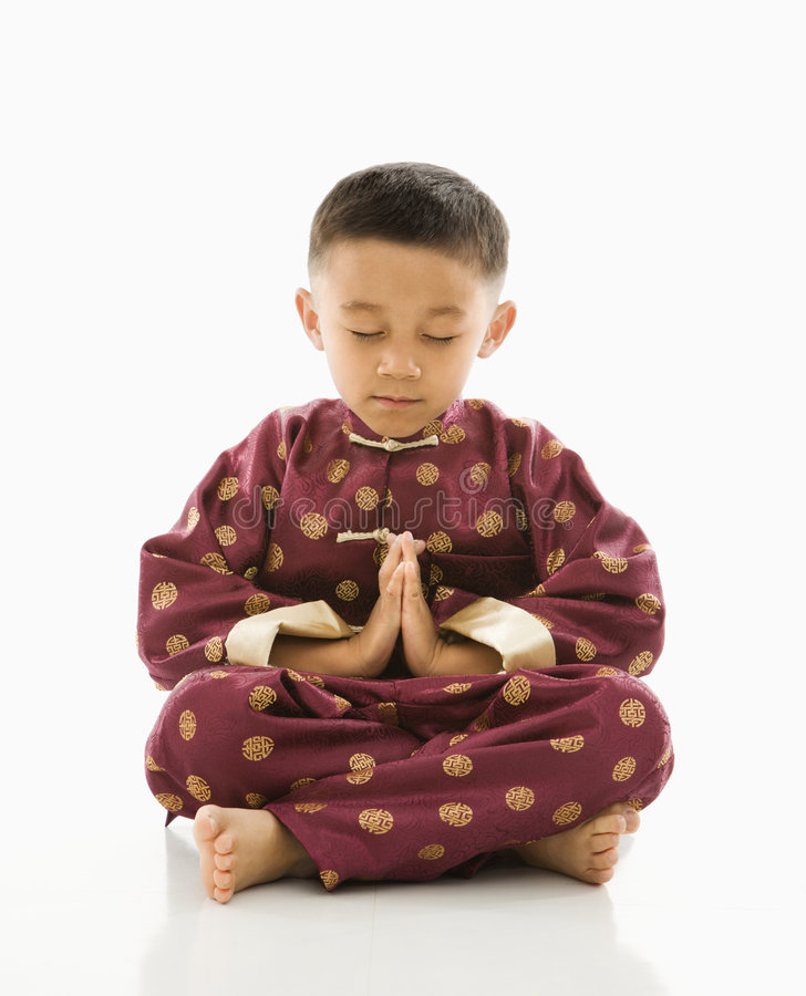 Download Boy in Asian attire. stock image. Image of child, formal - 2772163