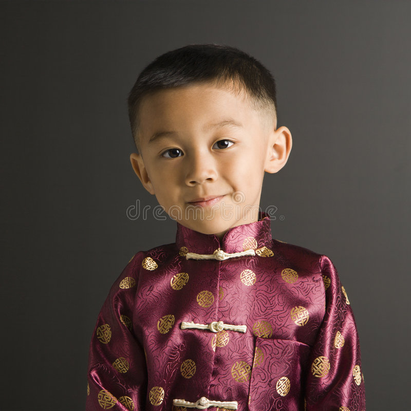 Download Boy in Asian attire. stock photo. Image of square, wear - 2772198