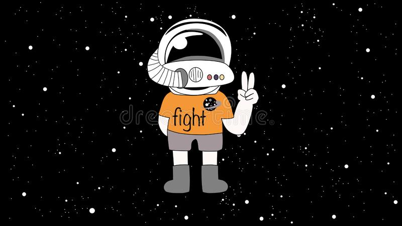 A boy astronaut in space royalty free stock photo