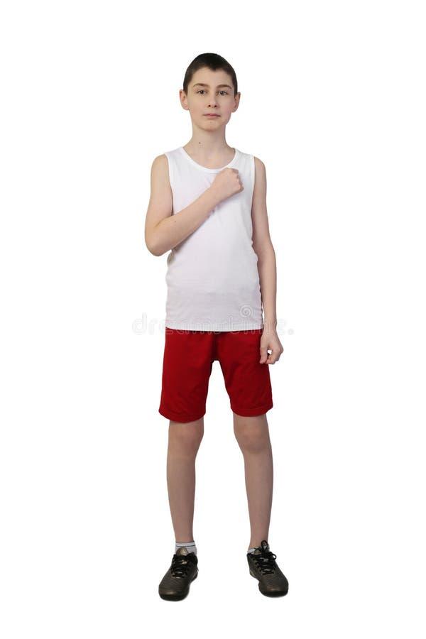Boy athlete royalty free stock photo