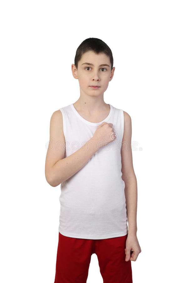 Boy athlete royalty free stock image