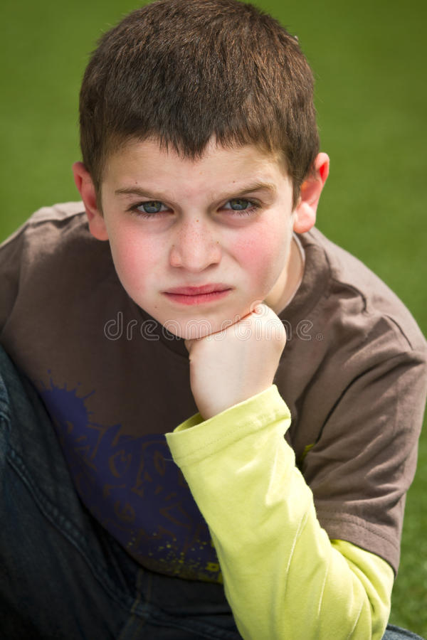 Boy with attitude royalty free stock photo