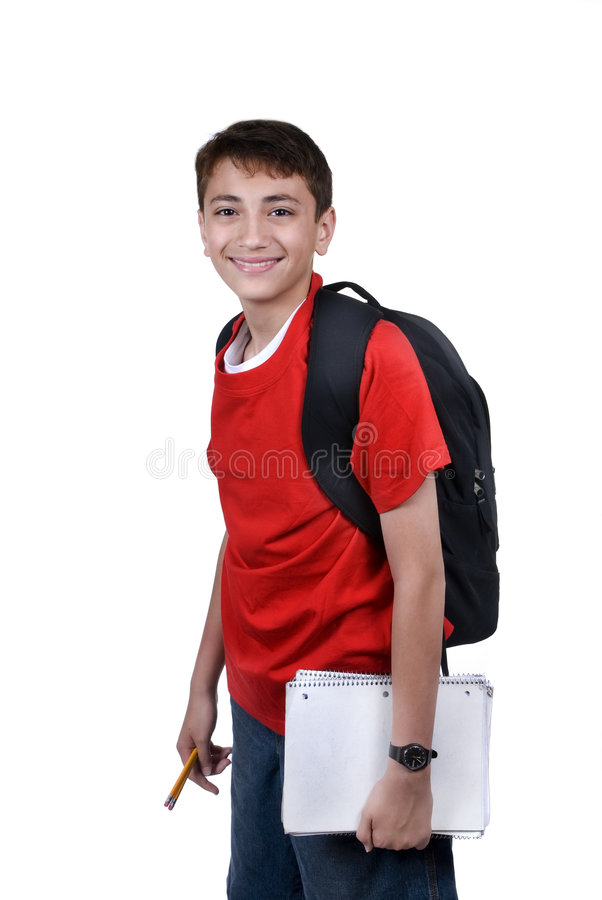 Download Boy with backback stock photo. Image of studious, studying - 2378774