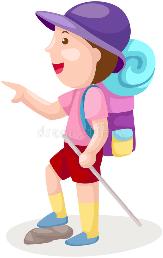 Download Boy with backpack stock vector. Image of school, little - 26327854