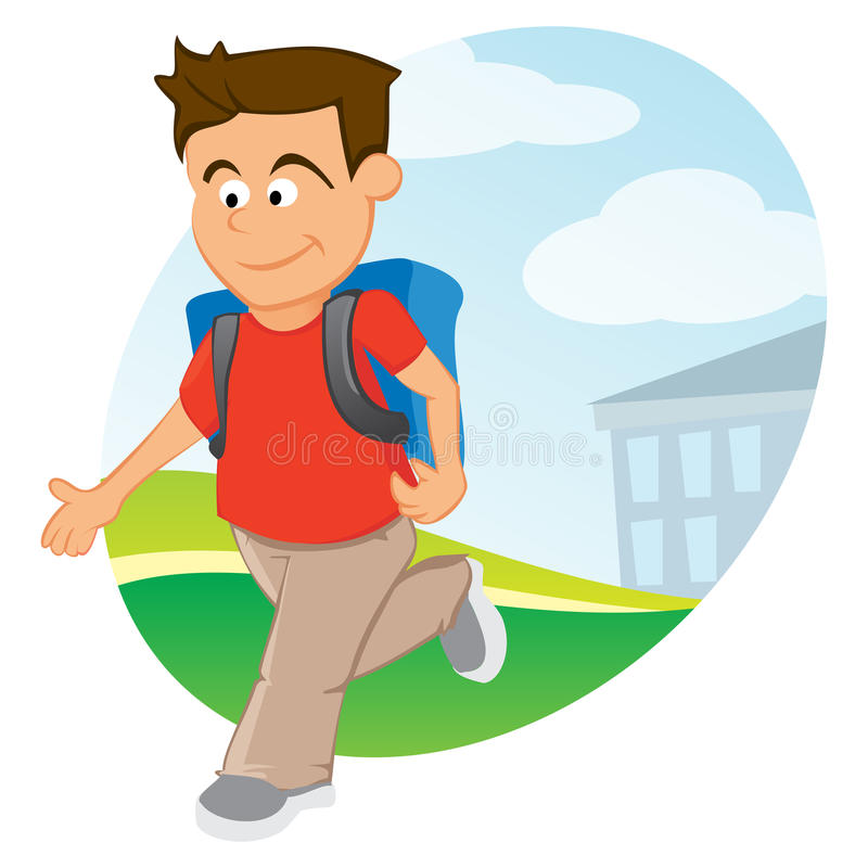 Download Boy with backpack stock vector. Image of drawing, design - 26710686