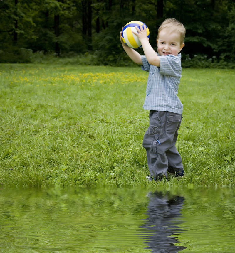 Download Boy And Ball stock image. Image of healthy, innocence - 6445727