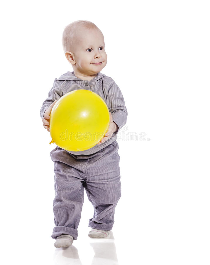 Boy with balloon stock photography