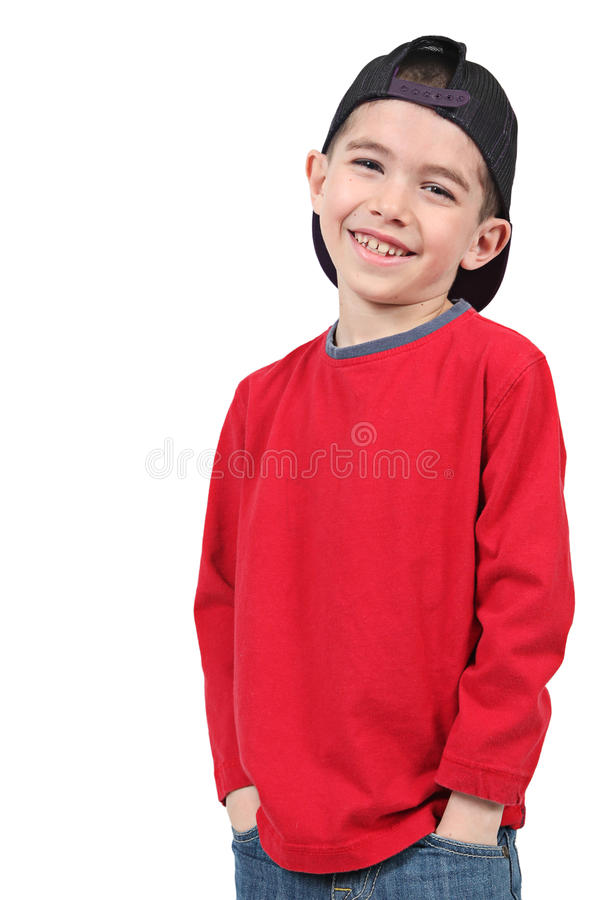 Download Boy with baseball cap stock photo. Image of male, baseball - 14237278