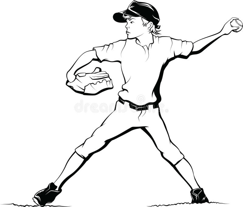 Download Boy Baseball Pitcher stock photo. Image of isolated, white - 30687036