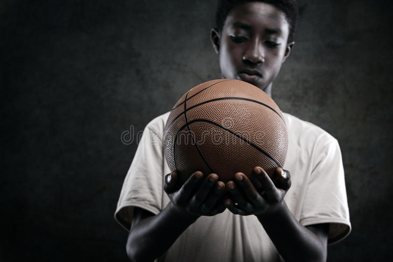 Boy With Basketball Royalty Free Stock Photography