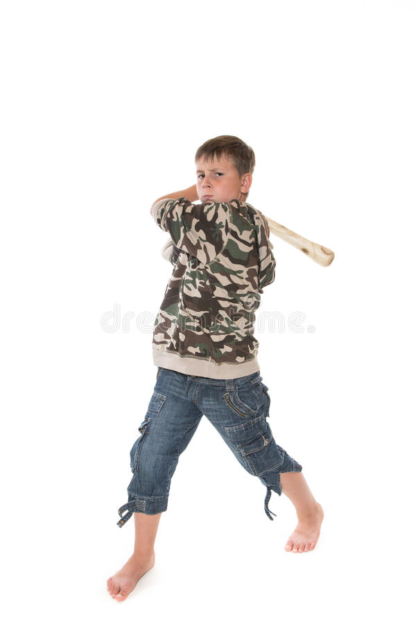 Download Boy with the bat stock image. Image of person, isolated - 32814791