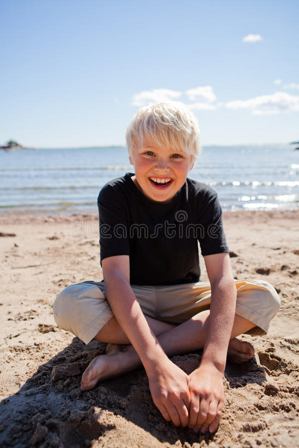 Download Boy on the beach stock image. Image of outdoor, sunshine - 26567641