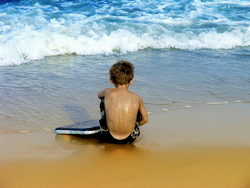Download Boy at the Beach stock photo. Image of outdoor, summer - 3021178