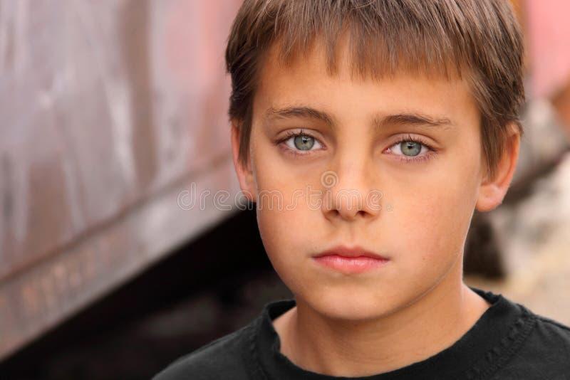 Boy with beautiful eyes stock photos