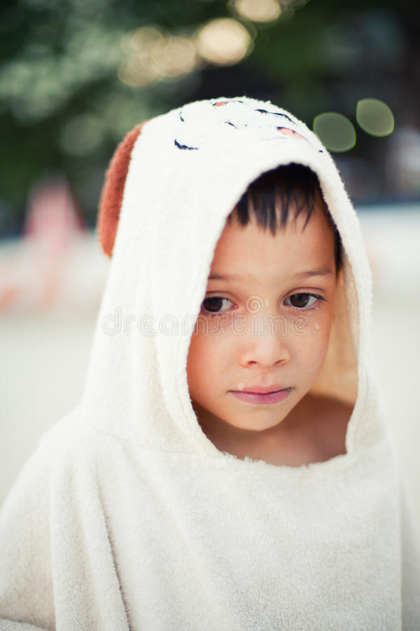 Download Boy Being Tired After Swimming Stock Photo - Image: 32309552
