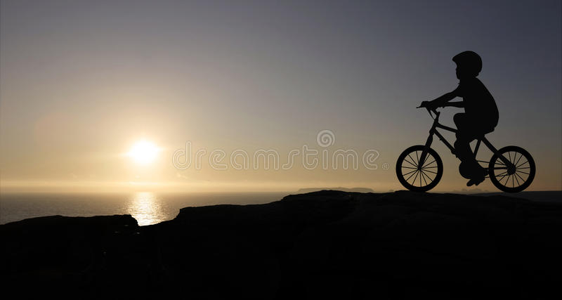 Boy And Bicycle Stock Photography