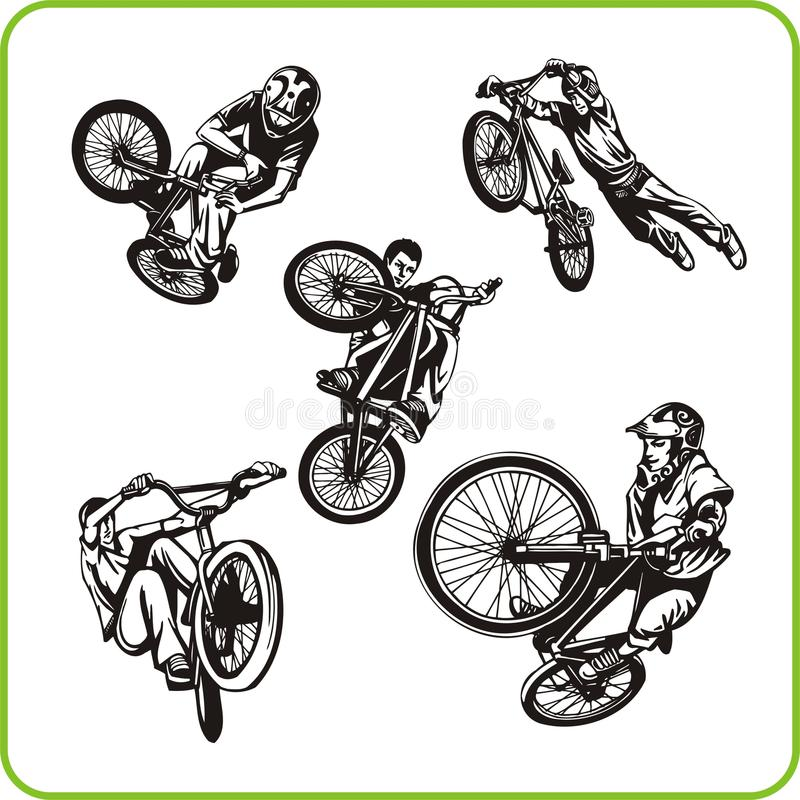 Download Boy on bicycle. stock vector. Image of agility, activity - 16392402