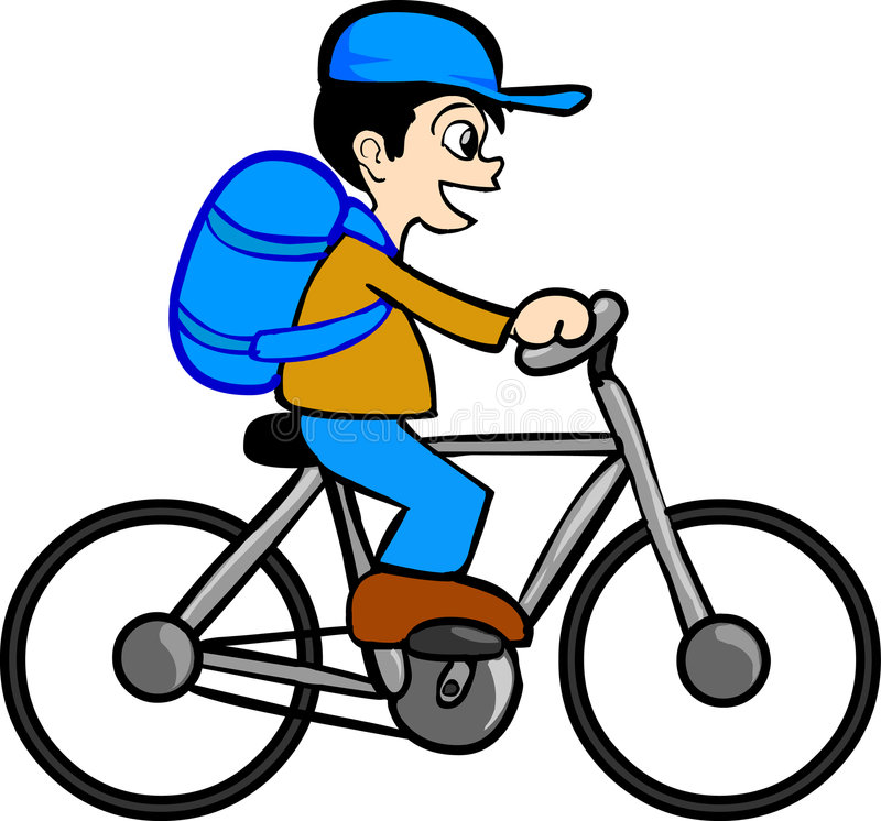 Download Boy With Bicycle stock vector. Illustration of riding - 2679729