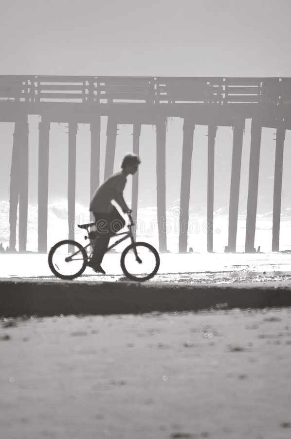 Download Boy, Bicycle, Beach stock photo. Image of recreation, seaside - 2913262