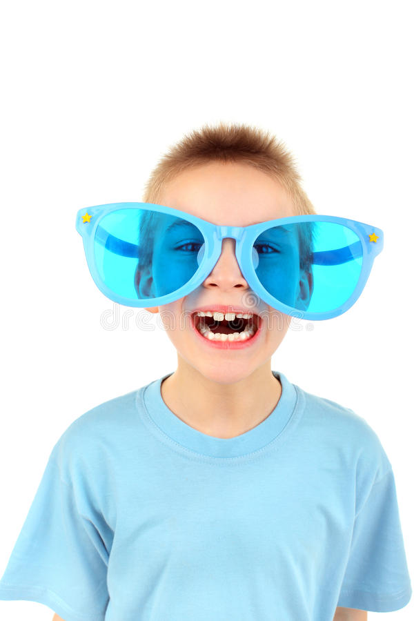 Download Boy in big glasses stock image. Image of shirt, funny - 19323809