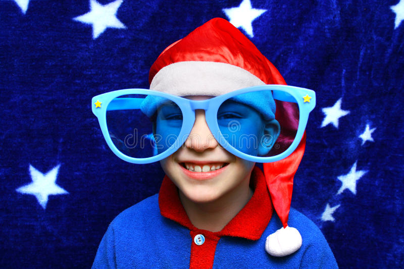 Boy in Big Glasses royalty free stock image