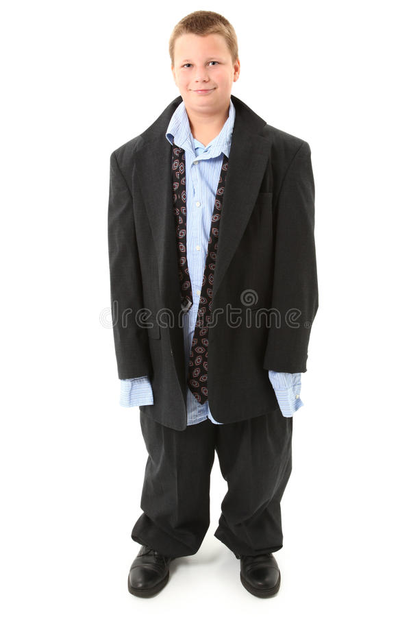 Boy in Big Suit royalty free stock photo