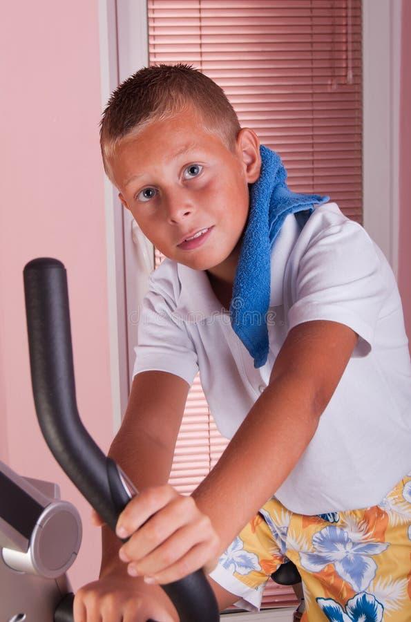 Download Boy on bike stock photo. Image of exercises, bicycle - 21730296