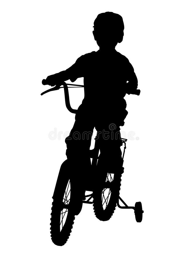 Download Boy on bike stock image. Image of silhouettes, activities - 31378517