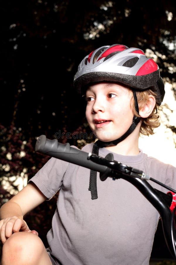 Download Boy Biker At Dusk Royalty Free Stock Photos - Image: 24532948