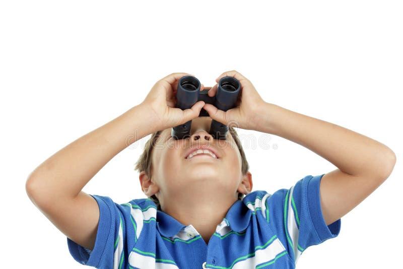 Download Boy and binoculars stock photo. Image of optics, interested - 26215214