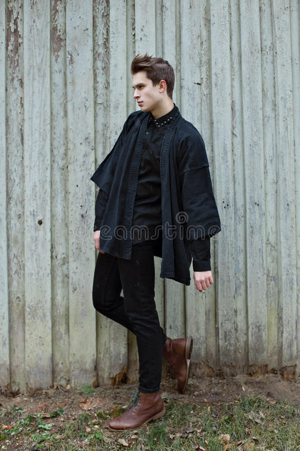 Boy in Black royalty free stock images