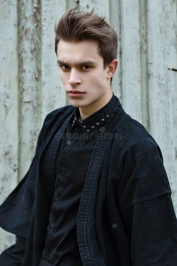 Boy in Black royalty free stock photos